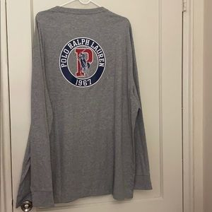 NWT Polo Ralph Lauren gray long sleeve shirt XXL